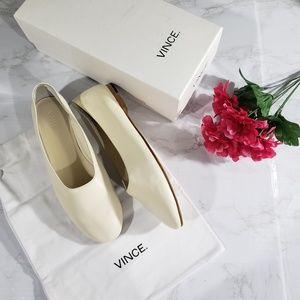 Vince Maxwell ballet flats white cream Size 9.5